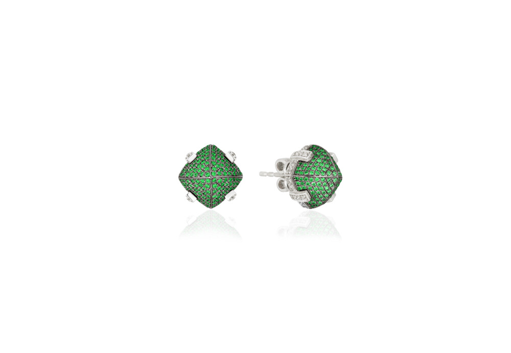 Image 2 for Sugarloaf Pave Tsavorite Earrings