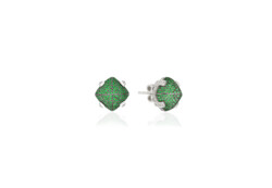 Closeup photo of Sugarloaf Pave Tsavorite Earrings