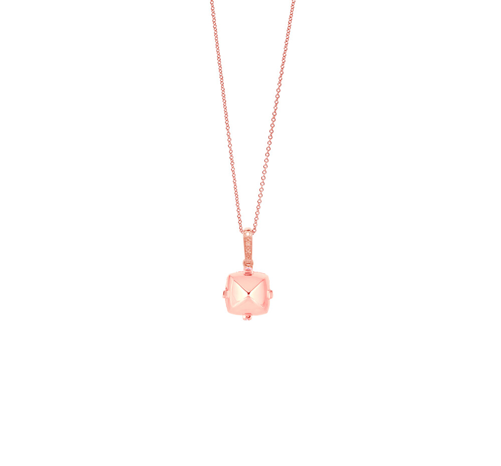 Sugarloaf Pave Rose Gold Pendant