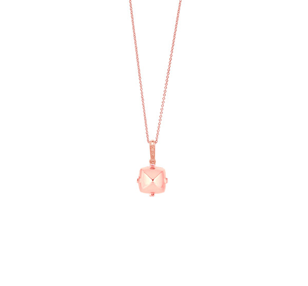 Closeup photo of Sugarloaf Pave Rose Gold Pendant