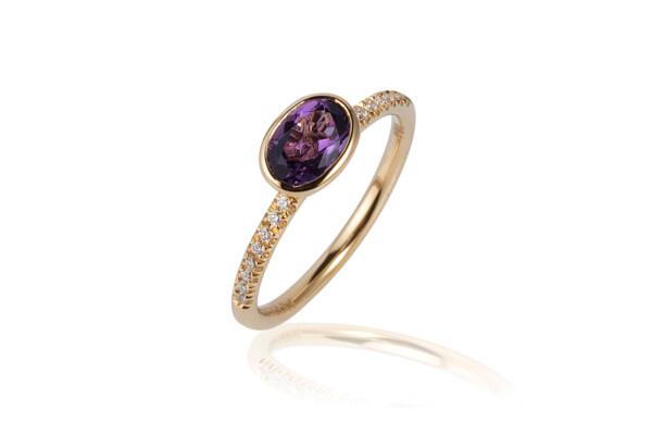 Closeup photo of Gossip Amethyst Ring