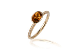 Closeup photo of Gossip Citrine Ring