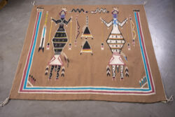 Closeup photo of Rug Cn23 Yei - Sandpainting