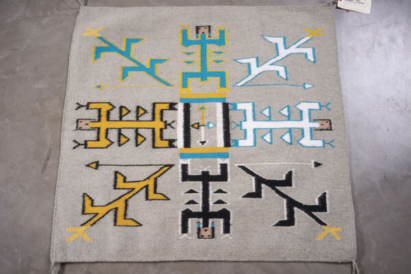 Closeup photo of Rug Cn24 Yei - Sandpainting