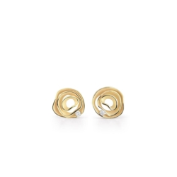 Closeup photo of Dune Earrings (Yellow Gold)