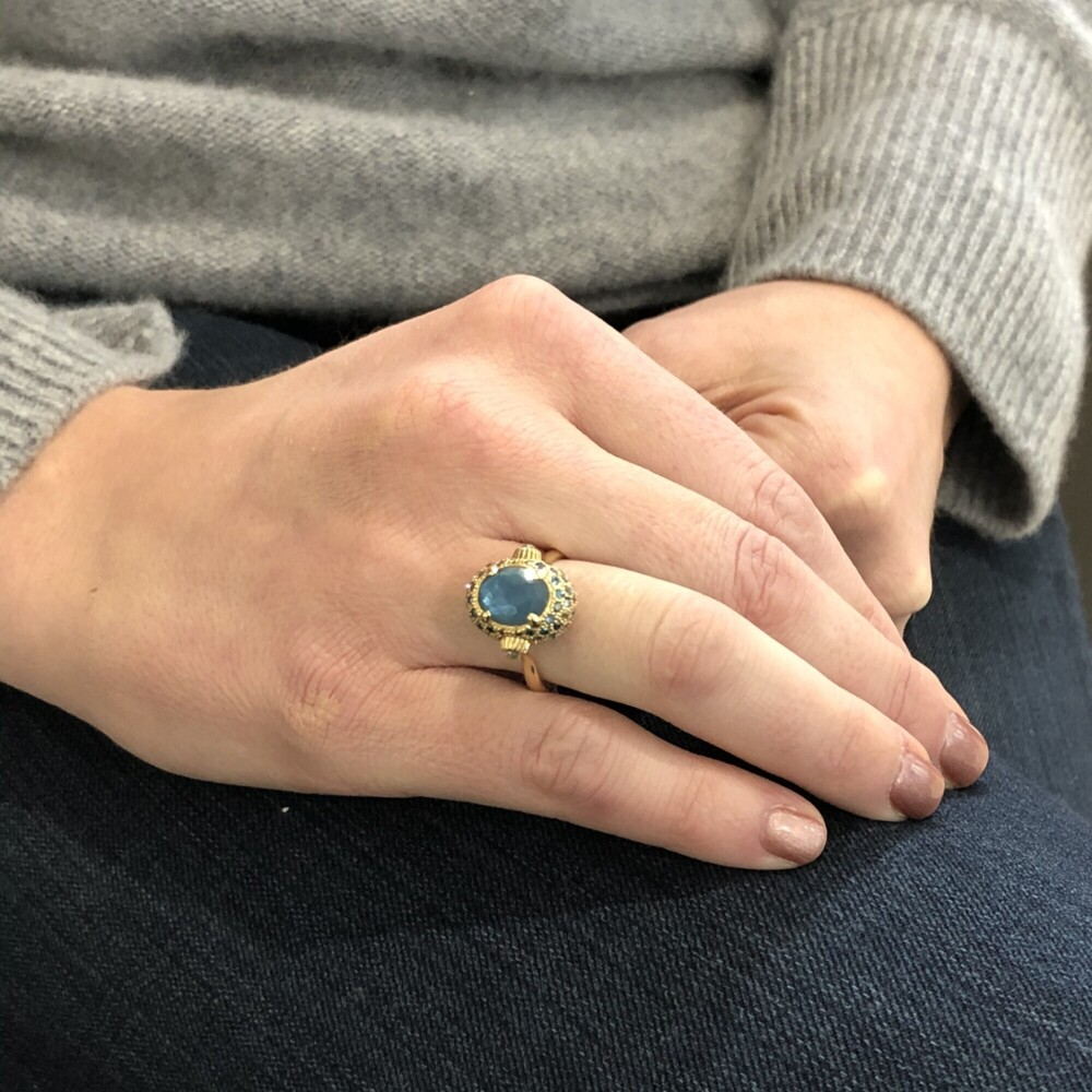 Image 2 for Dancing In The Rain Blue Topaz Ring