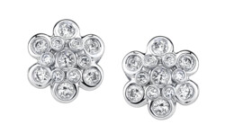 Closeup photo of Domed Diamond Earrings