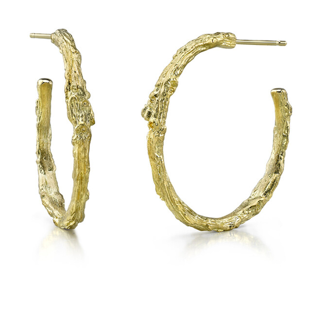Branch Hoop Earrings
