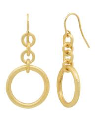 Closeup photo of Embrace Circle Dangle Earrings