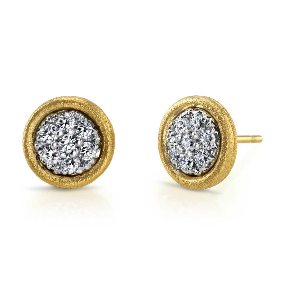 Mosaic Earrings With Diamonds