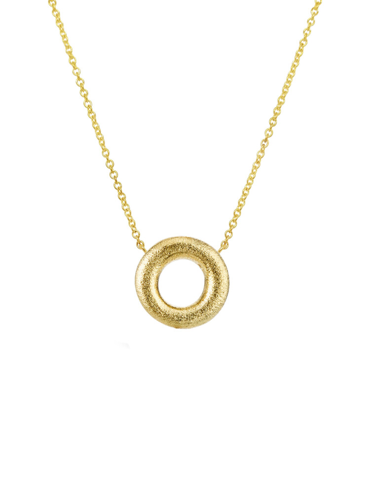 Embrace Donut Pendant With Chain