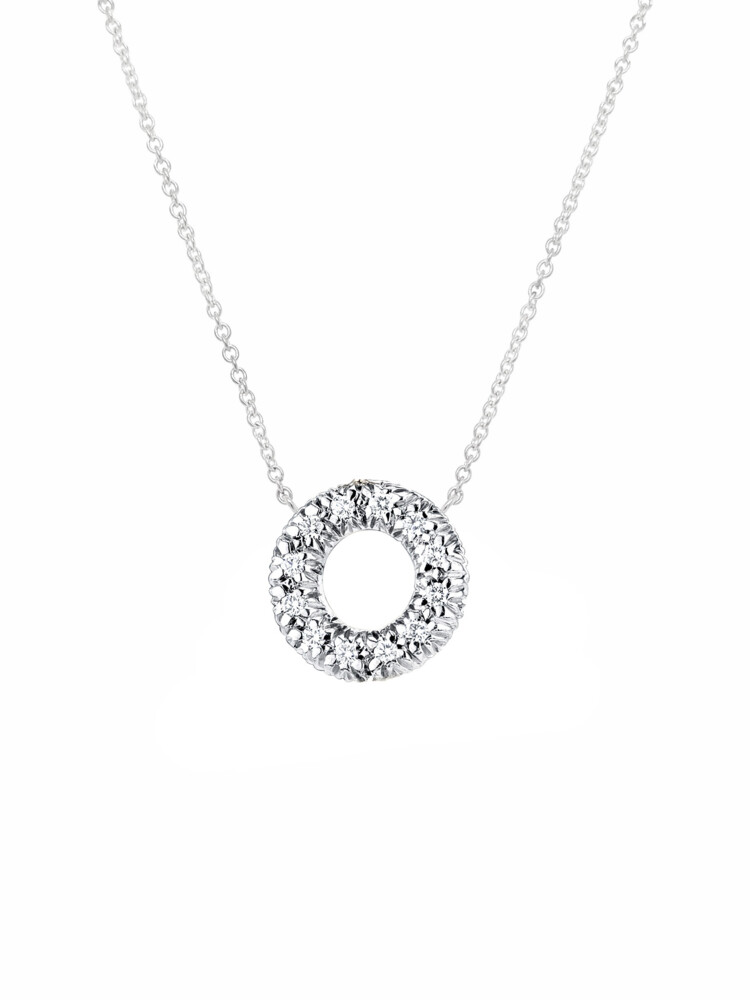 Diamond Embrace Donut Pendant With Chain
