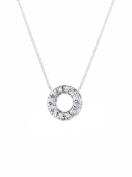 Closeup photo of Diamond Embrace Donut Pendant With Chain