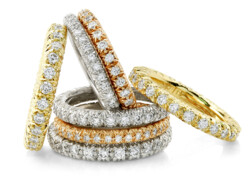 Closeup photo of Eternity Ring With Diamonds (Yellow Gold)