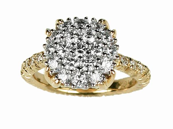 Closeup photo of Diamond Pave Ring