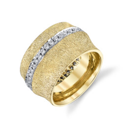 Closeup photo of Bamboo Ring With Diamonds