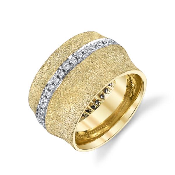 Closeup photo of Bamboo Ring With Diamonds