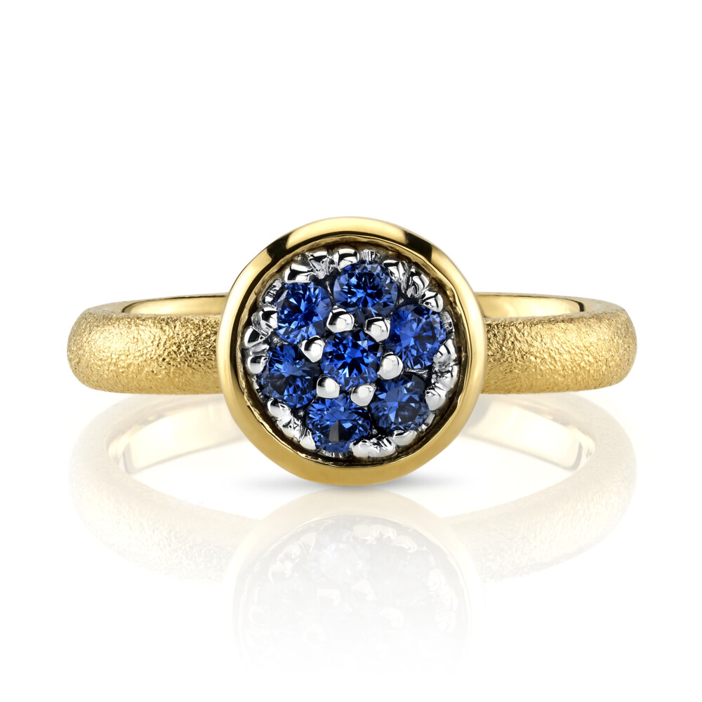 Blue Sapphire Ring With Aspen Finish