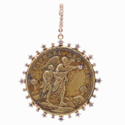 Closeup photo of Antique Spanish St. Raphael Archangel