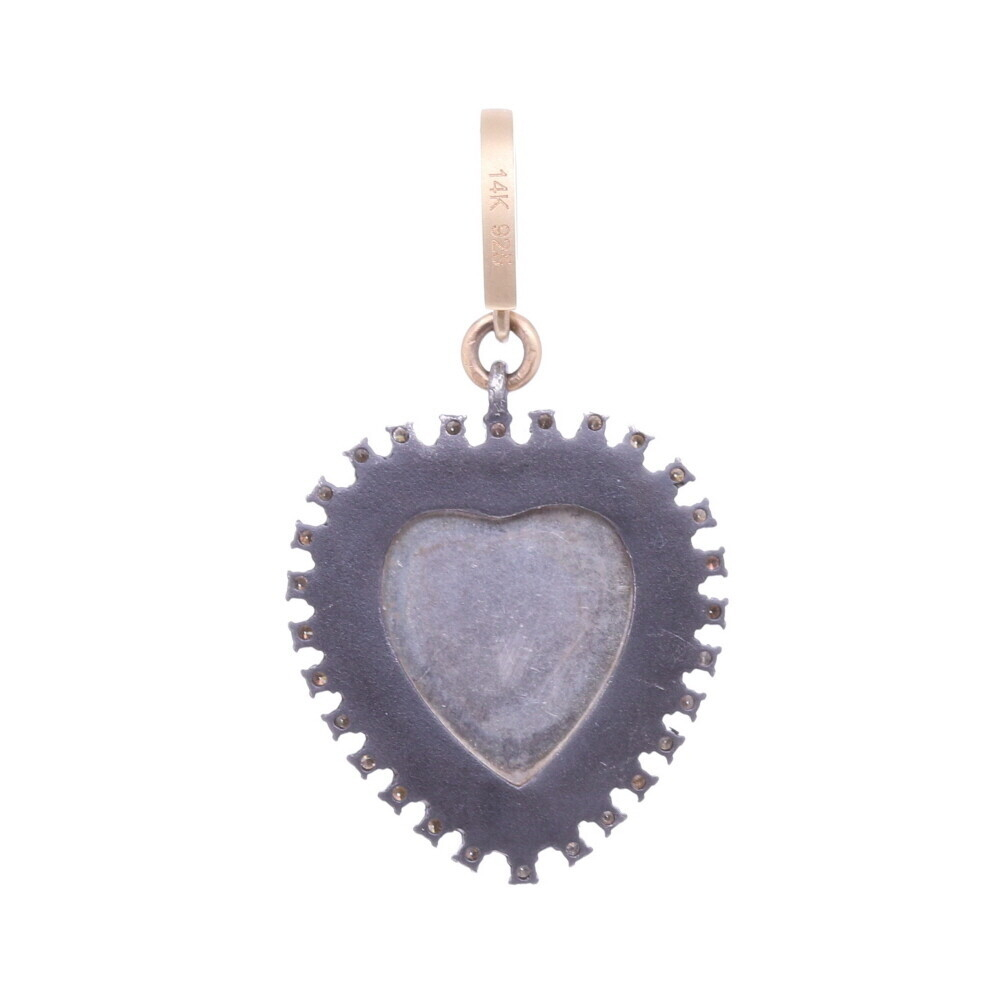 """Image 2 for St.Christopher """"The Gentle Giant In The River"""" Heart Pendant"""