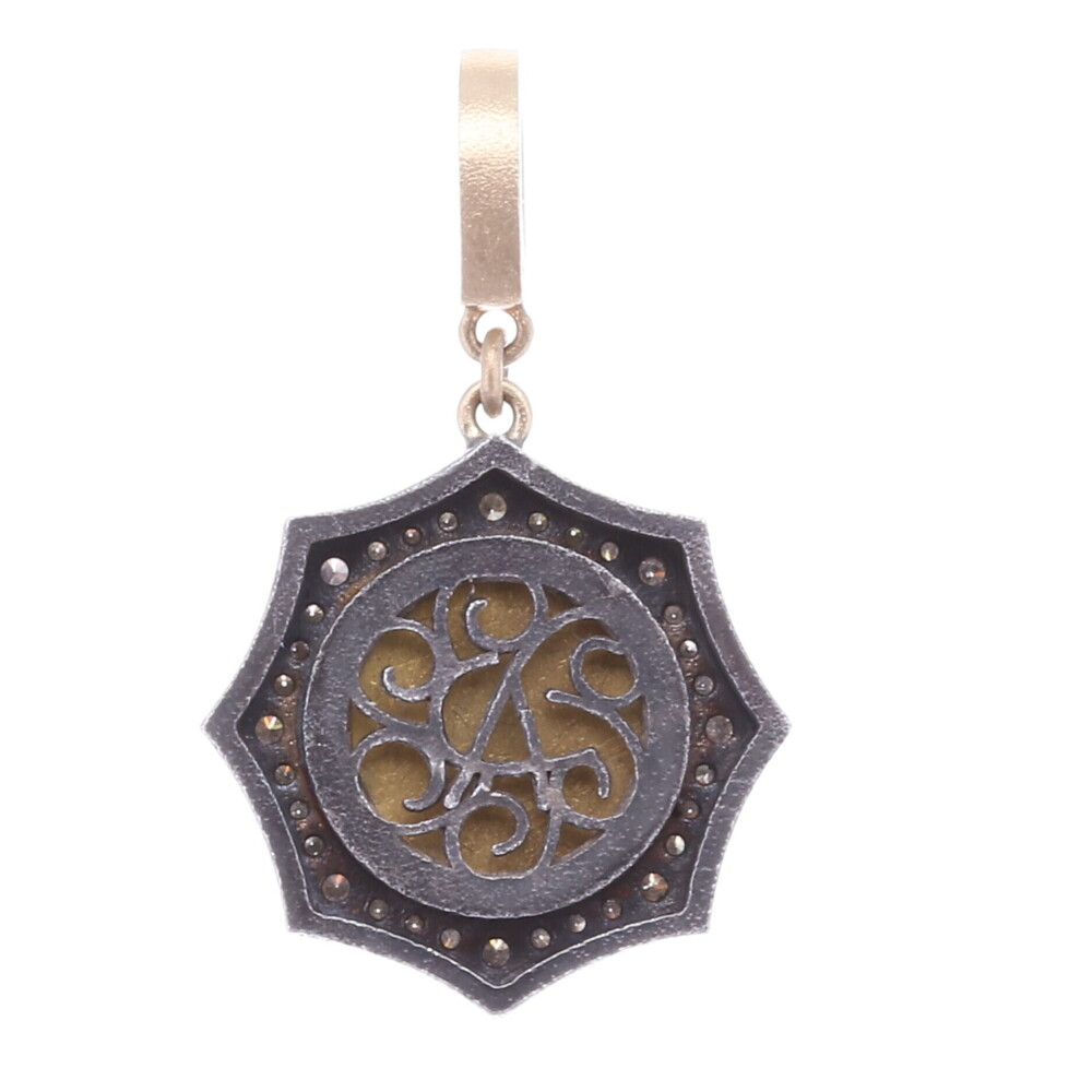 Image 2 for Blue Floral Authentic Italian Micro Mosaic Pendant/Charm
