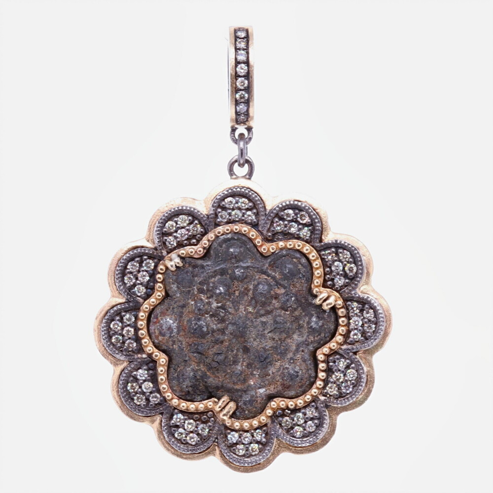 15-16th C. Flower shaped Artifact Pendant