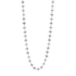 """Closeup photo of Labradorite Gold Necklace 38"""""""