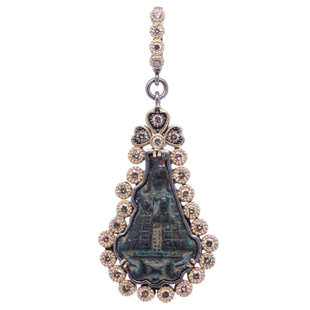Ancient Lady of Guadalupe Artifact Pendant