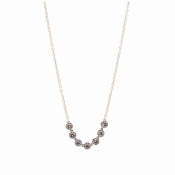 Closeup photo of Diamond Bar Necklace 18""
