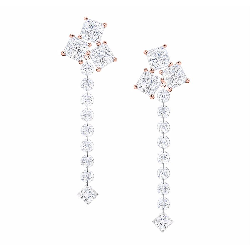 Vivace Dangle Diamond Earrings