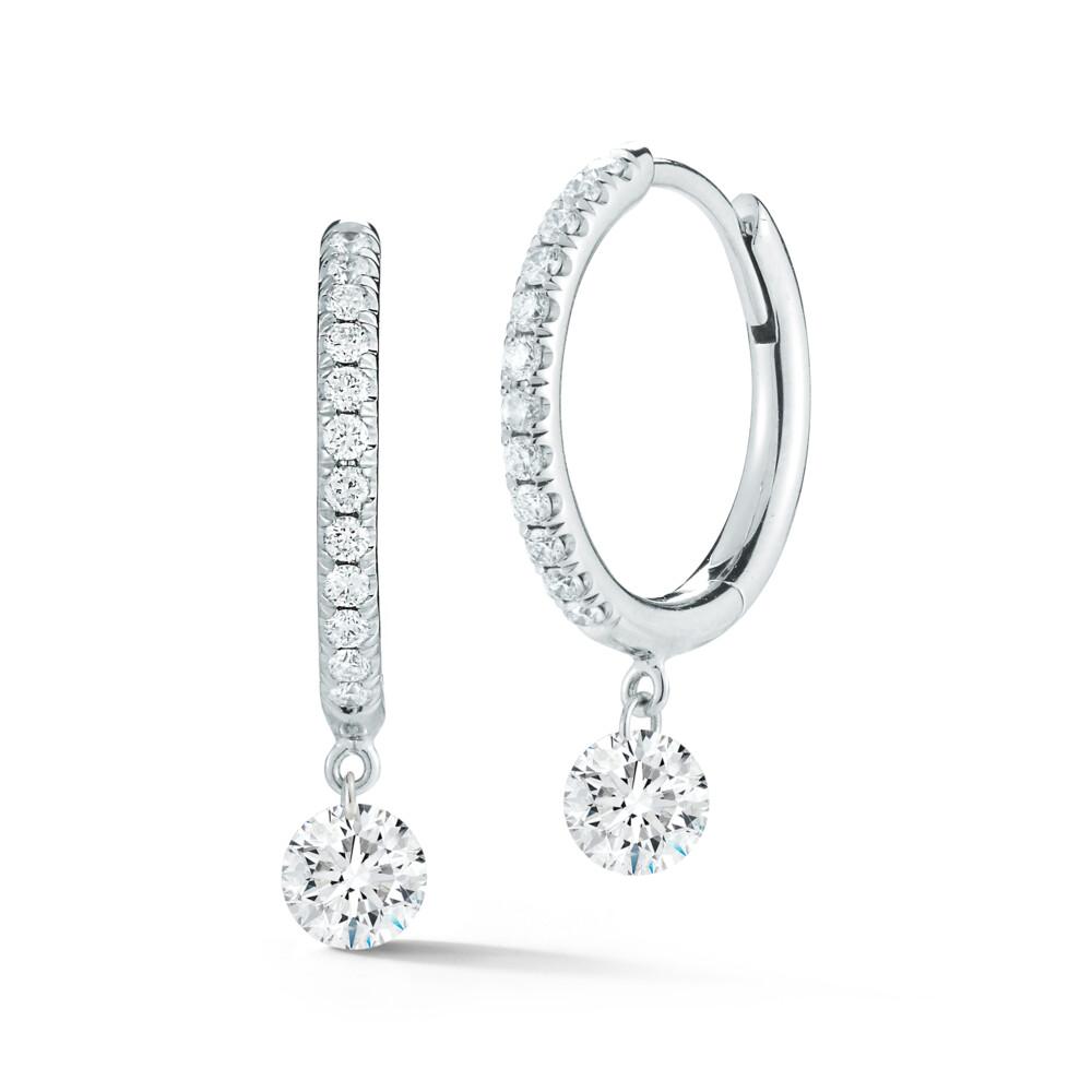Dangle Pave Hoops Diamond Earrings