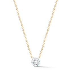 Closeup photo of Solo Diamond Dangle Necklace