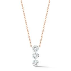 Closeup photo of Trio Streamer 3-round Diamond Necklace