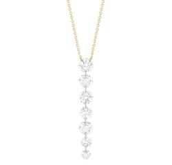 Closeup photo of Downstream 7-round Diamond Necklace