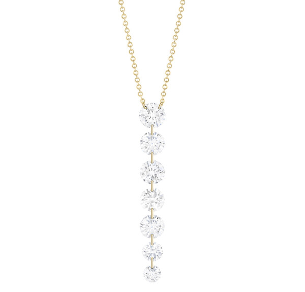 Closeup photo of Downstream 7-round Diamond Necklace