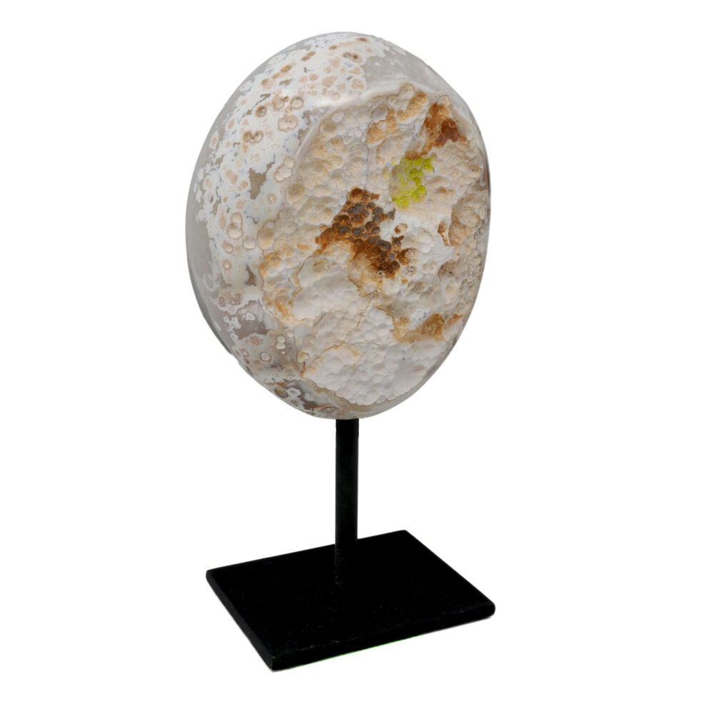 Image 2 for Speckled Druze Geode On Post Stand with Polished Back