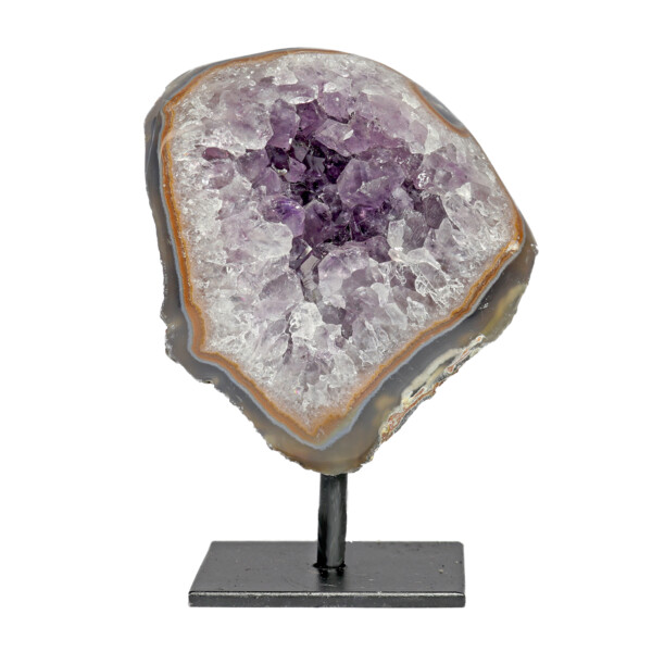 Closeup photo of Amethyst Druze Mini Cluster On Post Stand A
