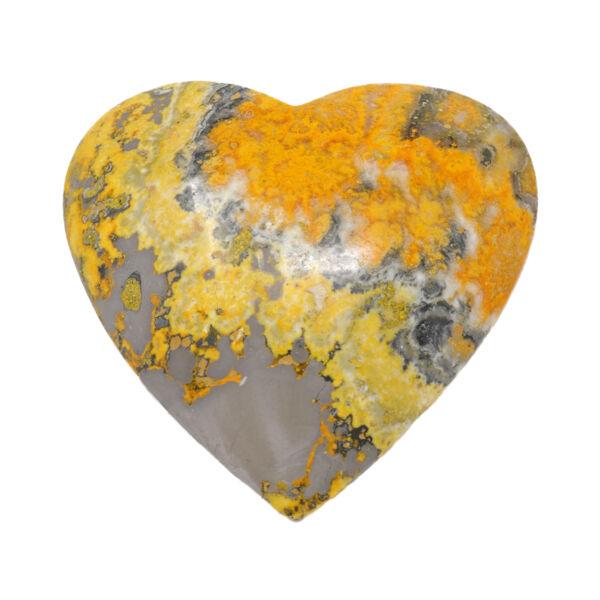 Closeup photo of Bumblebee Jasper Heart -Large