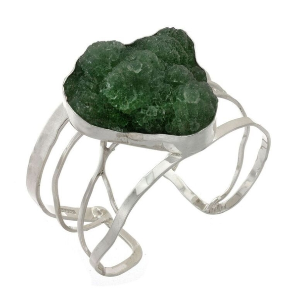 Closeup photo of Natural Green Fluorite Cuff