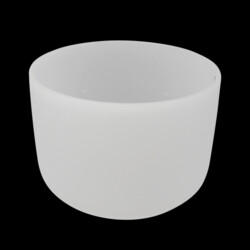 """Closeup photo of 12"""" Frosted Quartz Singing Bowl Note B Perfect"""