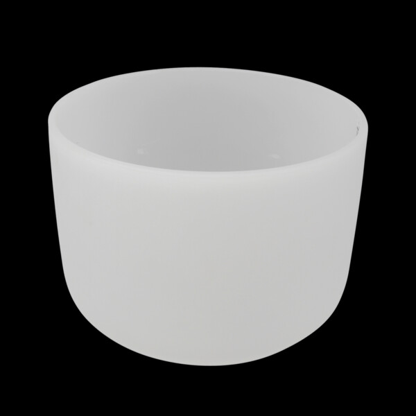 """Closeup photo of 12"""" Frosted Quartz Singing Bowl Note E Perfect"""
