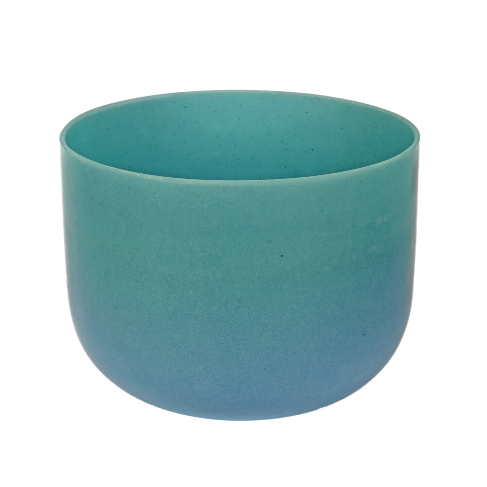 "Image 2 for 10"" Gem Infused Quartz Singing Bowl Note D Perfect Turquoise C01"