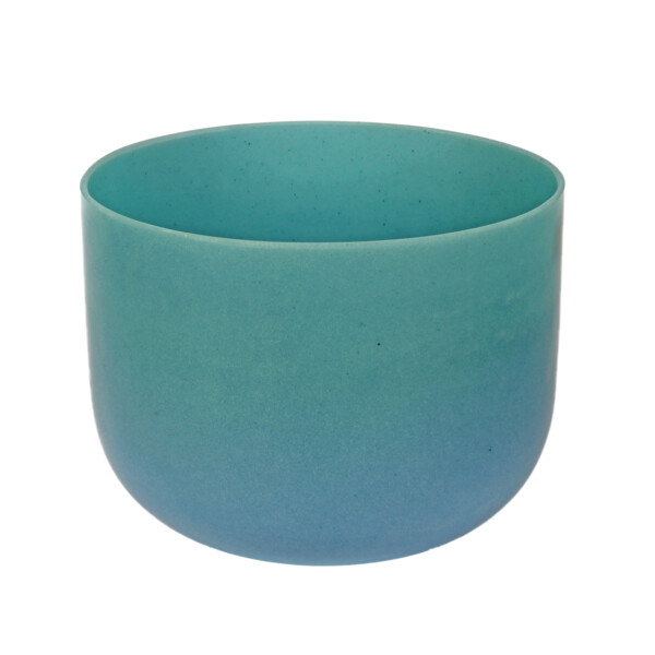 "Closeup photo of 10"" Gem Infused Quartz Singing Bowl Note D Perfect Turquoise C01 Box#05 & 11 & 31"