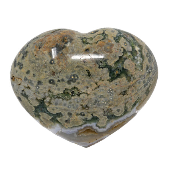 Closeup photo of Ocean Jasper Heart