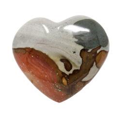Closeup photo of Polychrome Jasper Heart Small
