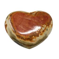 Closeup photo of Polychrome Jasper Heart