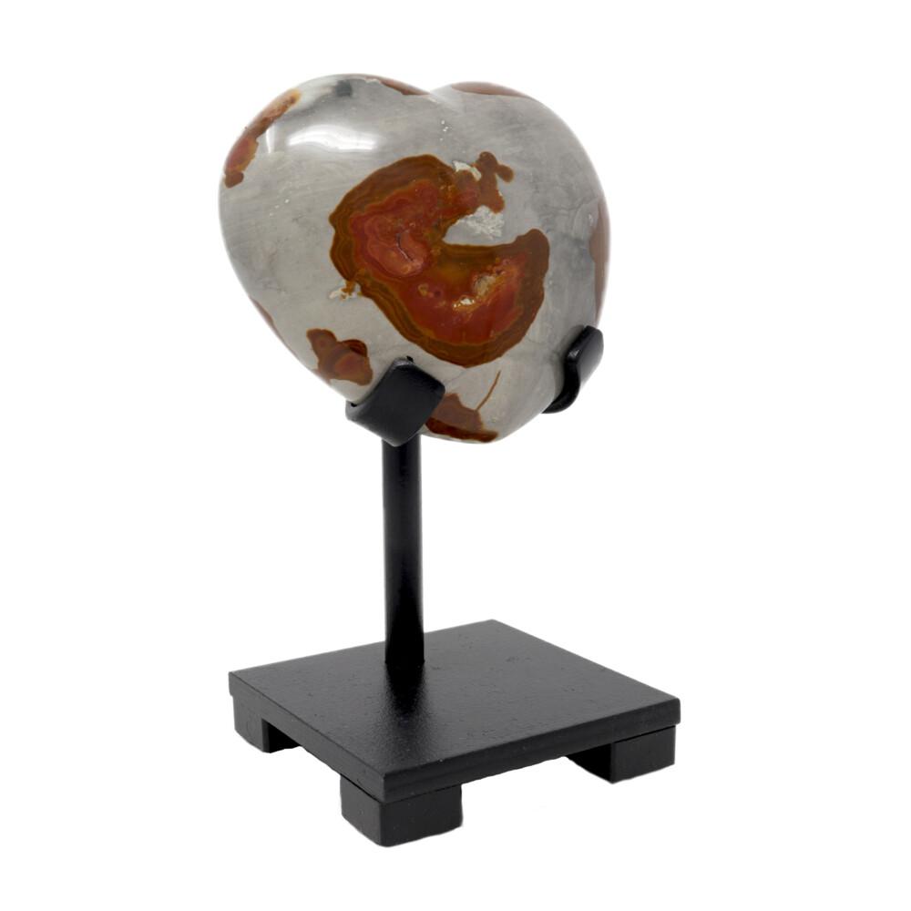 Image 2 for Polychrome Jasper Heart On Custom Stand