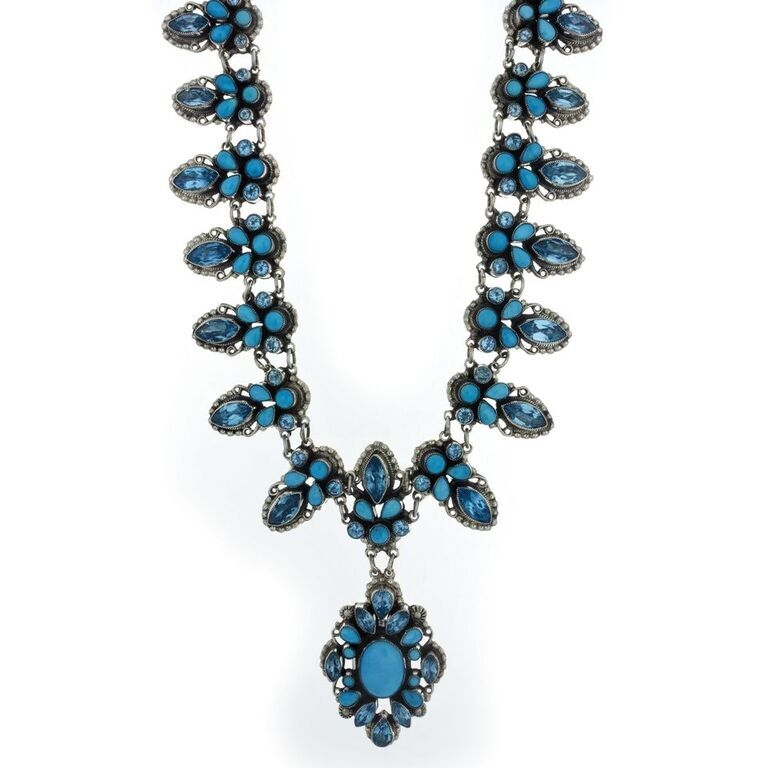 Leo Feeney Necklace With Sleeping Beauty Turquoise And Blue Topaz