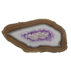 Closeup photo of Agate Slice With Amethyst Band