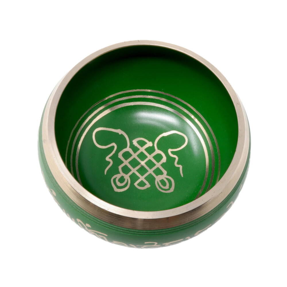 Image 2 for Brass Singing Bowl -Green
